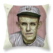 A Man Who Used To Be A Player Throw Pillow by James W Johnson