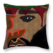 A Man With A Crown Throw Pillow