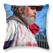 A Man With A Purpose Throw Pillow