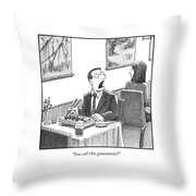 A Man Yelling Loudly Throw Pillow
