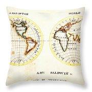 A Map Of The World  Amy Baldwin Sc Throw Pillow