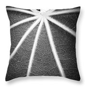 A Map On A Leaf Throw Pillow