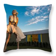 A Marilyn Morning Throw Pillow