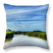 A Marsh At Jekyll Island Throw Pillow