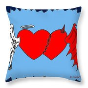 A Match Between Heaven And Hell Throw Pillow