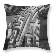 A Maze Ing Hand Black And White Throw Pillow