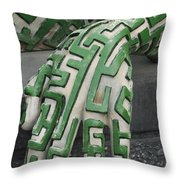 A Maze Ing Hand Throw Pillow