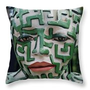 A Maze Ing Man 3 Throw Pillow