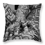 A Maze Ing Man 4 Black And White Throw Pillow