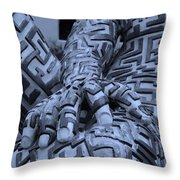 A Maze Ing Man 4 Cyan Throw Pillow