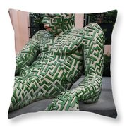 A Maze Ing Man 5 Throw Pillow