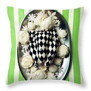 A Meal With Painted Chicken And Eggplant Throw Pillow