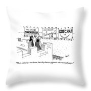 A Medieval Guard And A King Look Throw Pillow