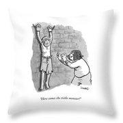 A Medieval Torturer Approaches A Hanging Throw Pillow