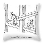 Escher Get Your Ass Up Here Throw Pillow