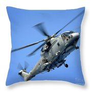 A Merlin Helicopter Throw Pillow