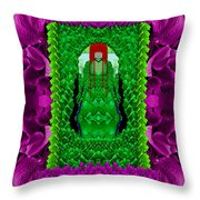 A Mermaid Cat Comes From The Sea Throw Pillow