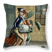A Merry Christmas And Happy New Year Throw Pillow