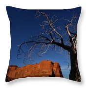 A Mesquite Trees And Buttes Throw Pillow