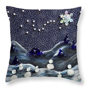 A Midnight Clear Throw Pillow