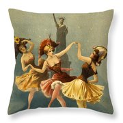 A Midnight Frolic Throw Pillow by Aged Pixel