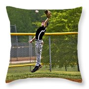 A Mighty Leap Throw Pillow