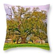 A Mighty Oak - Paint Throw Pillow