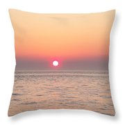 A Minute To Sunset Throw Pillow