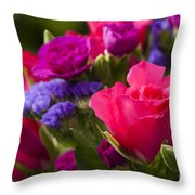 A Mixed Bouquet Throw Pillow