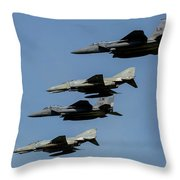 A Mixed Formation Of U.s. Air Force Throw Pillow