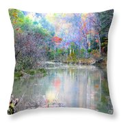 A Monet Autumn Throw Pillow