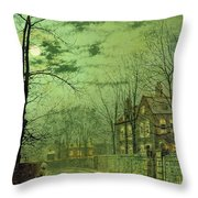A Moonlit Road Throw Pillow