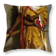 A Moroccan Guard Throw Pillow