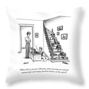 A Mother Speaks To Her Son Throw Pillow