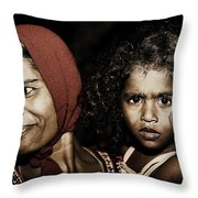 A Mother's Comfort Throw Pillow