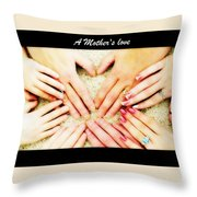 A Mother's Love Throw Pillow by Michelle Frizzell-Thompson