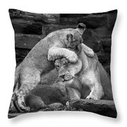 A Mother's Patience Throw Pillow