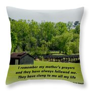 A Mother's Prayer Throw Pillow