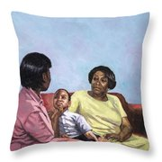 A Mothers Strength Throw Pillow
