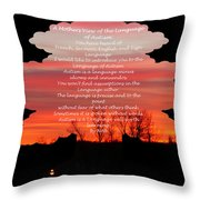 A Mother's View Of Autism Throw Pillow