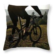 A Mountain Biker Makes His Final Throw Pillow