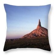 A Mountain Surrounded By Prairies Throw Pillow