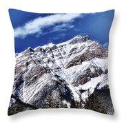 A Mountain View Throw Pillow