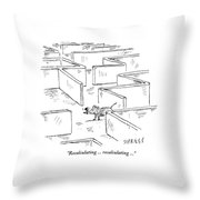 A Mouse Uses A Global Positioning System Gps Throw Pillow