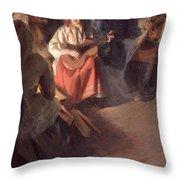 A Musical Family Throw Pillow