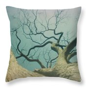 A Naked Tree Throw Pillow