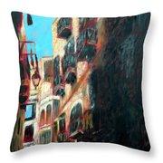 A Narrow Street Throw Pillow