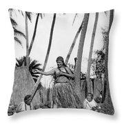 A Native Hawaiian Dancer Throw Pillow