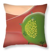 A Natural Killer Cell Of The Innate Throw Pillow by Stocktrek Images
