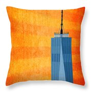 A New Day - World Trade Center One Throw Pillow